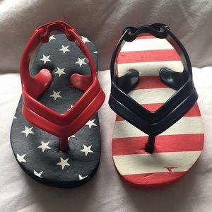Other - 🎇 Red, White & Blue Little boys Flip Flops